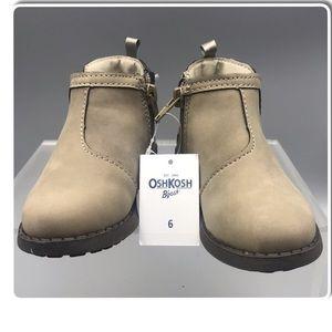 Oshkosh Girls Ankle Boots toddler size 6 NWT